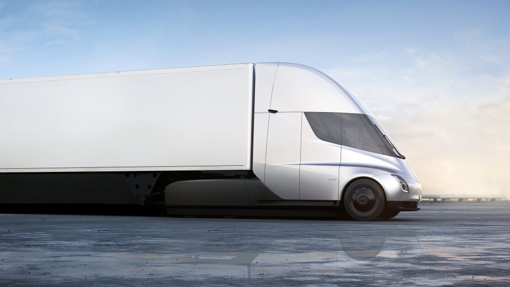 Tesla electric semi-truck