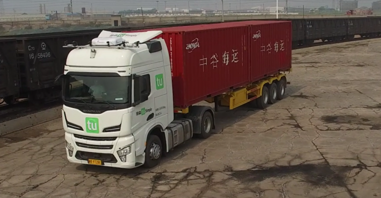 Self-Driving Freight Transport In China
